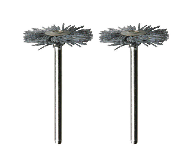 Dremel  1 in.  x 1-3/4 in. L x 1/8 in. Dia. Silicone Carbide/Nylon  Brush  2 pc.
