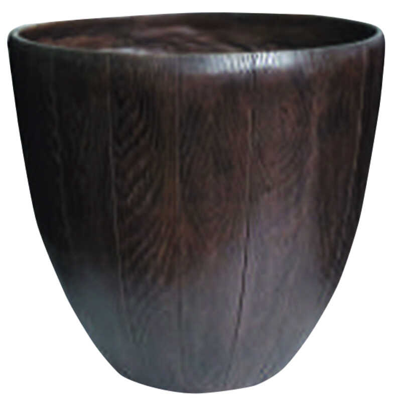 Southern Patio  14.53 in. H x 15 in. W Brown  Resin  Woodgrain  Planter
