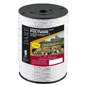 Dare Products  Electric-Powered  Electric Fence Wire  1320 feet  White