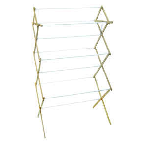 Madison Mill  52.5 in. H x 18.25 in. W x 29.5 in. D Wood  Clothes Drying Rack