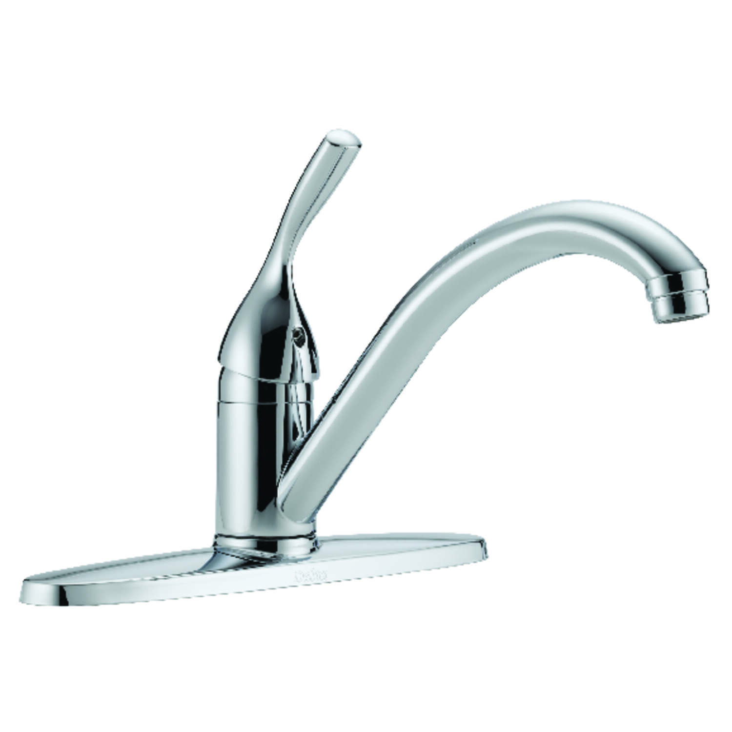 Delta  Diamond  Classic  One Handle  Chrome  Kitchen Faucet