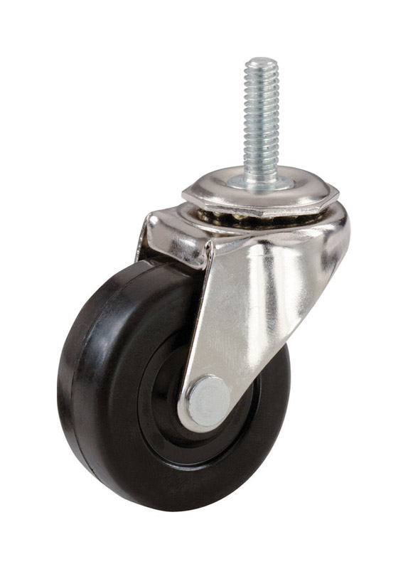 Shepherd  2 in. Dia. Swivel Rubber  Caster  80 lb. 1 pk