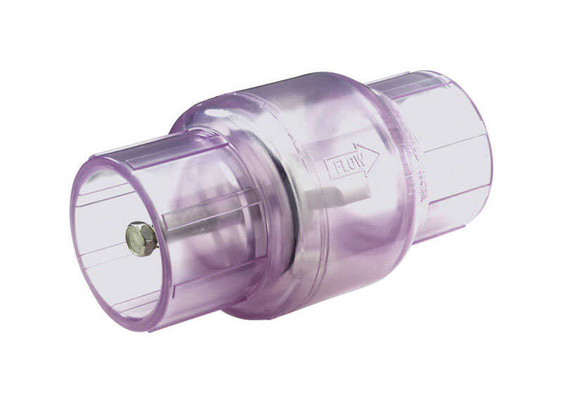 NDS  2 in. Slip X 2 in. Slip  PVC  Spring Loaded  Check Valve