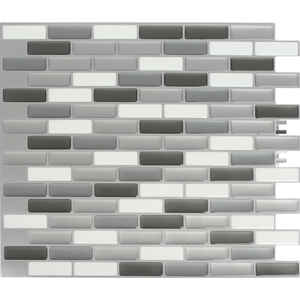 Peel and Impress  9.3 in. W x 11 in. L Vinyl  Adhesive Wall Tile  4 pk Multiple Finish (Mosaic)