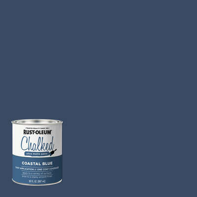 Rust-Oleum  Chalked  Ultra Matte  Coastal Blue  Water-Based  Chalk Paint  30 oz.