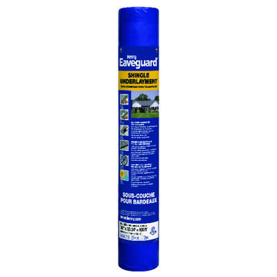 Henry 3 ft. W x 33.3 ft. L Fiberglass Self-Adhesive Shingle Underlayment 15 lb. Blue