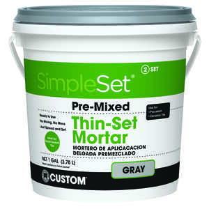 Custom Building Products  SimpleSet  Gray  Thin-Set Mortar  128 oz. 1 gal.