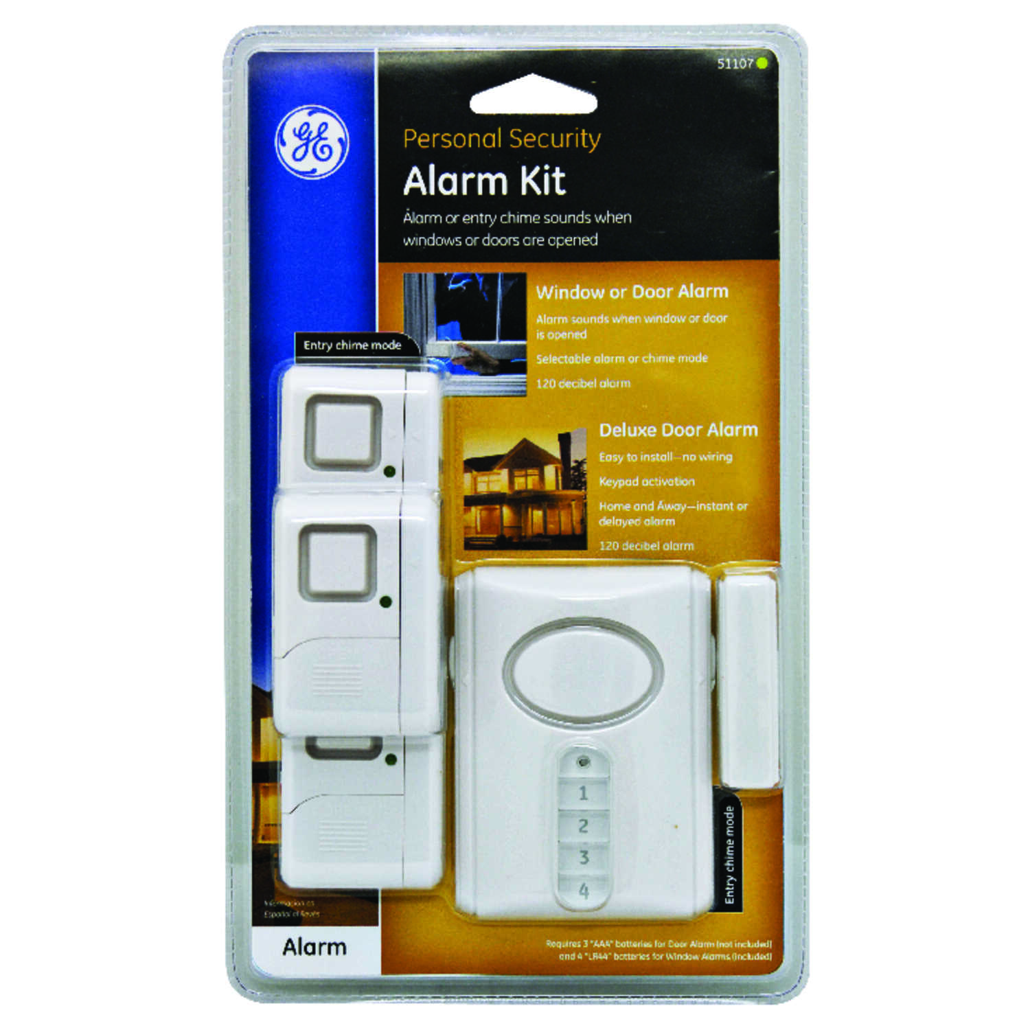 GE  White  Door and Window Alarm Kit