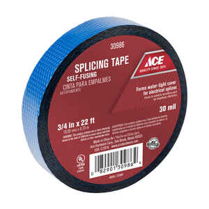 Ace  3/4 in. W x 22 ft. L Black  Rubber  Splicing Tape