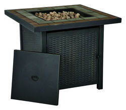 Living Accents Square Propane Fire Pit 25 in. H x 30 in. W x 30 in. D Steel