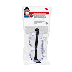 3M  Chemical Splash Goggles  Clear Lens Clear Frame 1 pc.