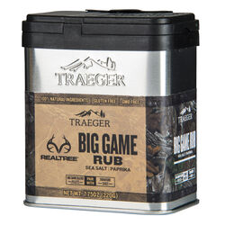 Traeger Realtree Sea Salt and Paprika Big Game Rub 7.75 oz.