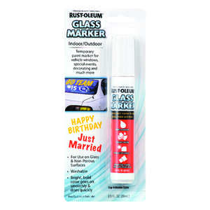Rust-Oleum  Glass Markers  White  Broad Tip  Glass Marker  1 pk