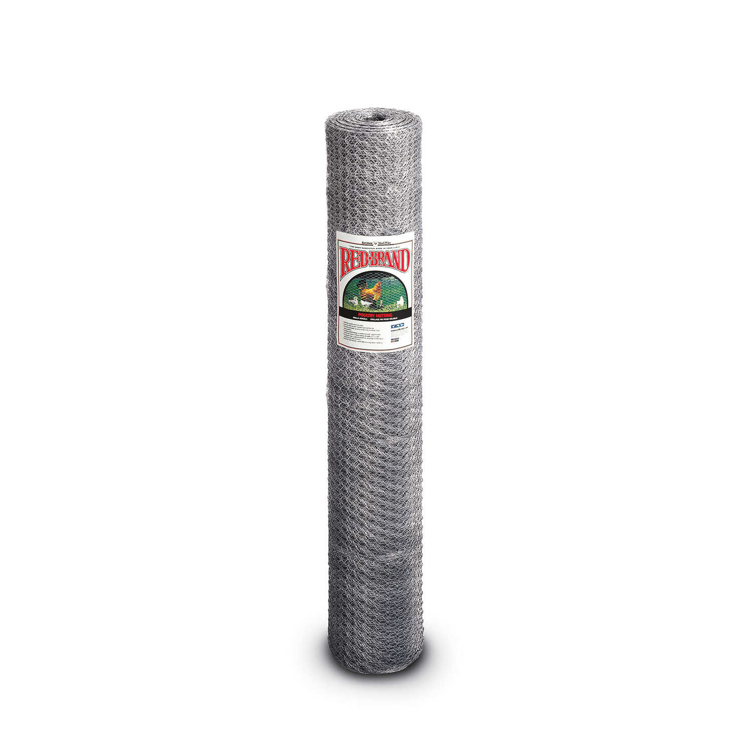 Red Brand  Red Brand  72 in. H x 150 foot  L 20 Ga. Silver  Poultry Netting