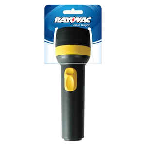 Rayovac  Brite Essentials  9 lumens Assorted  Incandescent  Flashlight  D Battery