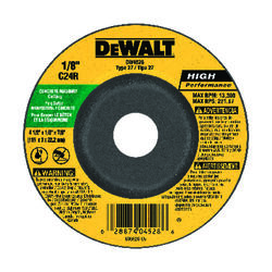 DeWalt  High Performance  4-1/2 in. Dia. x 7/8 in.  Silicon Carbide  Masonry Cutting Wheel  1 pc.