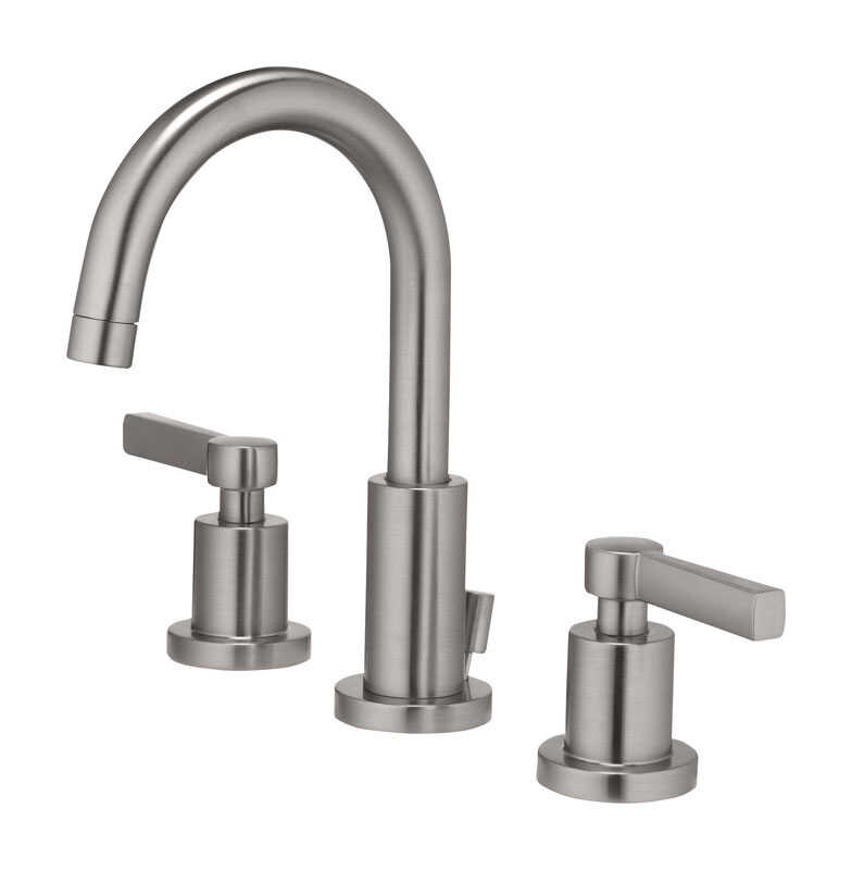 OakBrook  Modena  Modena  Widespread  Lavatory Pop-Up Faucet  8 in. Brushed Nickel