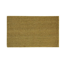 Sports Licensing Solutions 30 in. L x 18 in. W Tan Blank Nonslip Door Mat