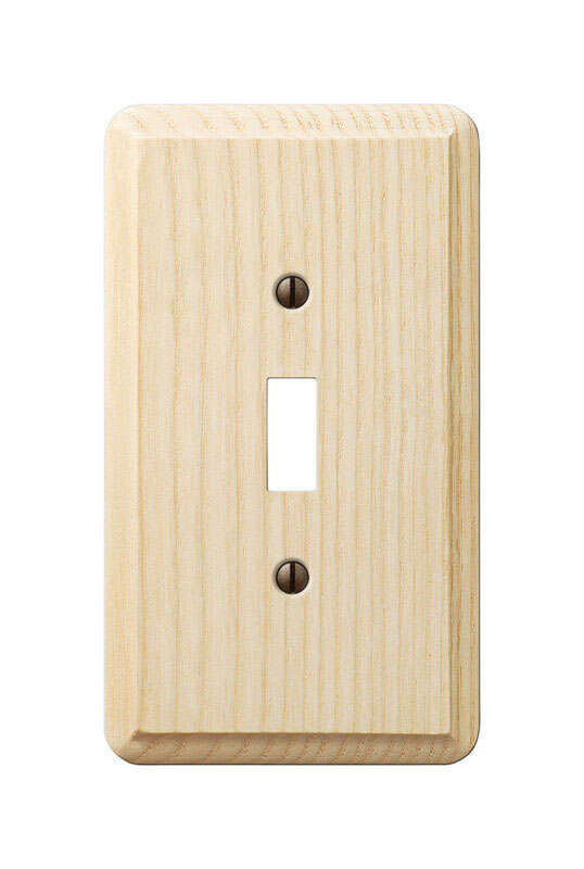 Amerelle  Contemporary  Unfinished  1 gang Wood  Toggle  Wall Plate  1 pk