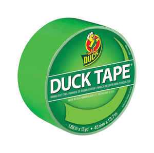 Duck  1.88 in. W x 15 yd. L Neon Green  Duct Tape