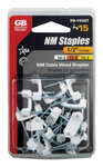 Gardner Bender  1/2 in. W Plastic  Insulated Cable Staple  15 pk