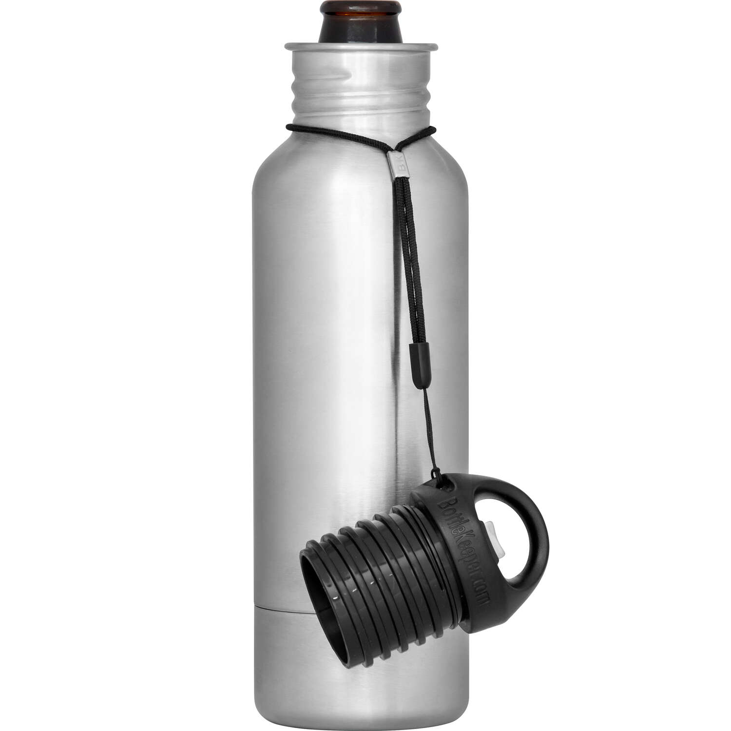 BottleKeeper  The Standard 2.0  Insulated Bottle Koozie  12 oz. Silver  1 pk