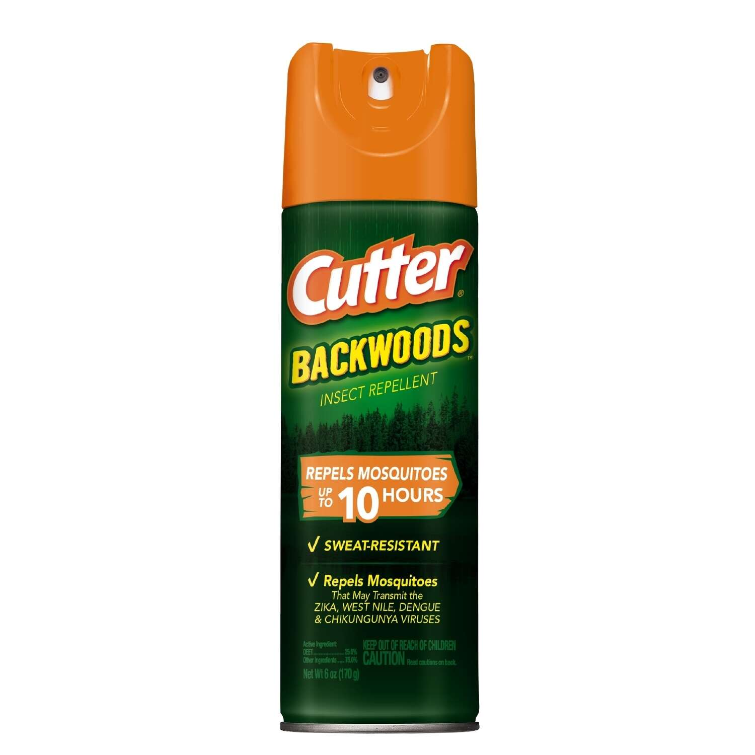 Cutter Backwoods Insect Repellent Liquid For Mosquitoes 6 oz.
