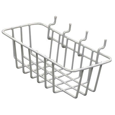 Crawford Gray Steel 4.1 in. Peggable Wire Basket 1 pk