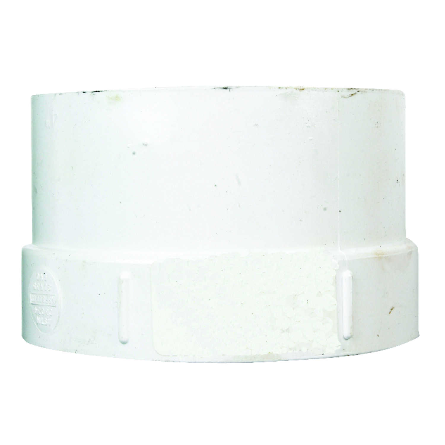Plastic Trends  4 in. Hub   x 4 in. Dia. FPT  PVC  Pipe Adapter