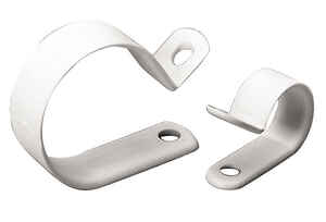 Gardner Bender  1/4 in. Dia. Plastic  Cable Clamp  18 pk