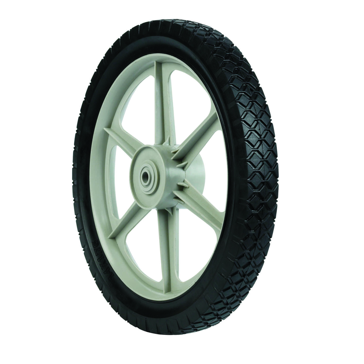 Arnold  1.75 in. W x 14 in. Dia. Plastic  Lawn Mower Replacement Wheel  60 lb.