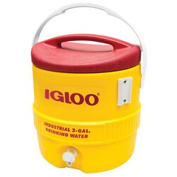 Igloo Industrial Water Cooler 3 gal. Red/Yellow
