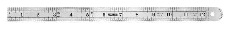 General Tools  12 in. L x 1-3/4 in. W Stainless Steel  Precision Rule