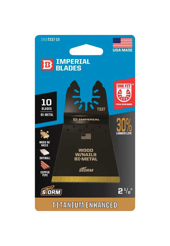 Imperial Blades  OneFit  2-1/2 in. Dia. Titanium-Coated Bi-Metal  Oscillating Saw Blade  10 pk