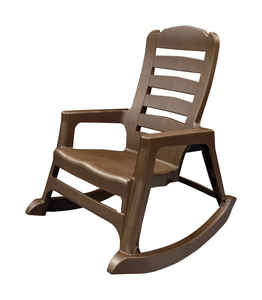 Adams  Big Easy  Polypropylene  Adirondack Rocking Chair