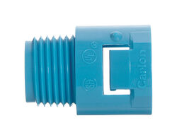 Carlon  1/2 in. Dia. PVC  Quick Connect Threaded Male Adapter  For PVC 1 pk