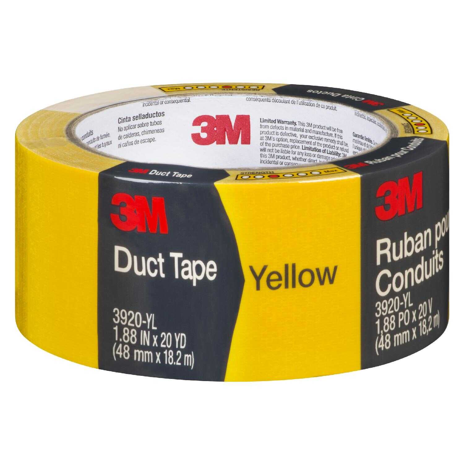 Scotch  1.88 in. W x 20 yd. L Yellow  Duct Tape