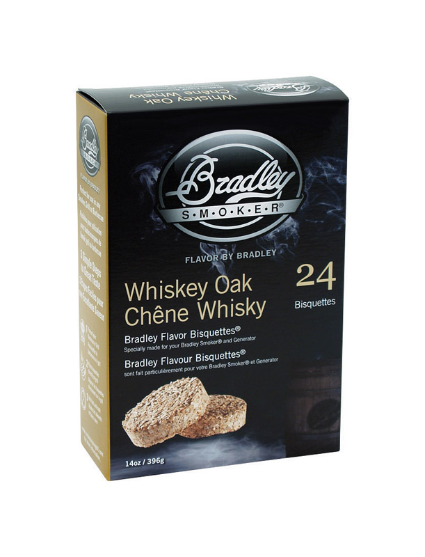 Bradley Smoker  Whiskey Oak  All Natural Wood Bisquettes  10