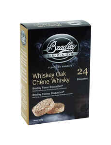 Bradley Smoker  Whiskey Oak  All Natural Wood Bisquettes  24 pk