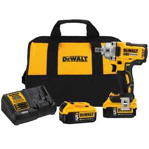 DeWalt  20V MAX XR  1/2 in. drive Square  Cordless  Brushless Impact Wrench  Kit 20 volt 3100 ipm 33
