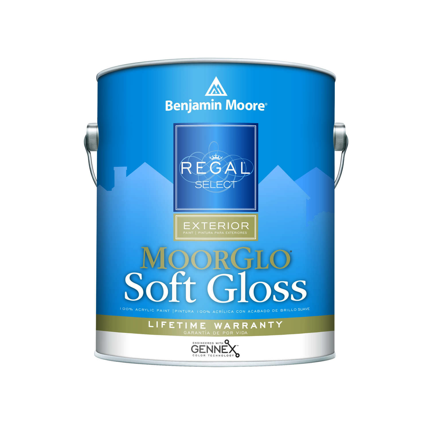 Benjamin Moore  Regal  Soft Gloss  Tintable Base  Base 3  Acrylic  Paint  Outdoor  1 gal.