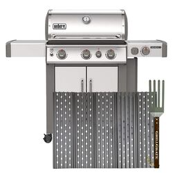GrillGrate  For Weber Genesis II 300 Series 2016-Present  Replacement GrillGrate Set  18.8 in. L x 2