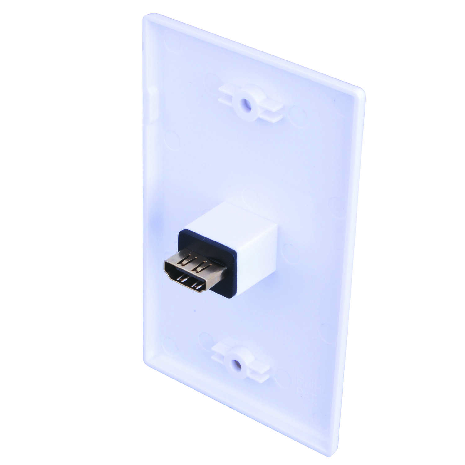 Monster Cable  Just Hook It Up  White  1 gang Plastic  Home Theater  Wall Plate  1 pk
