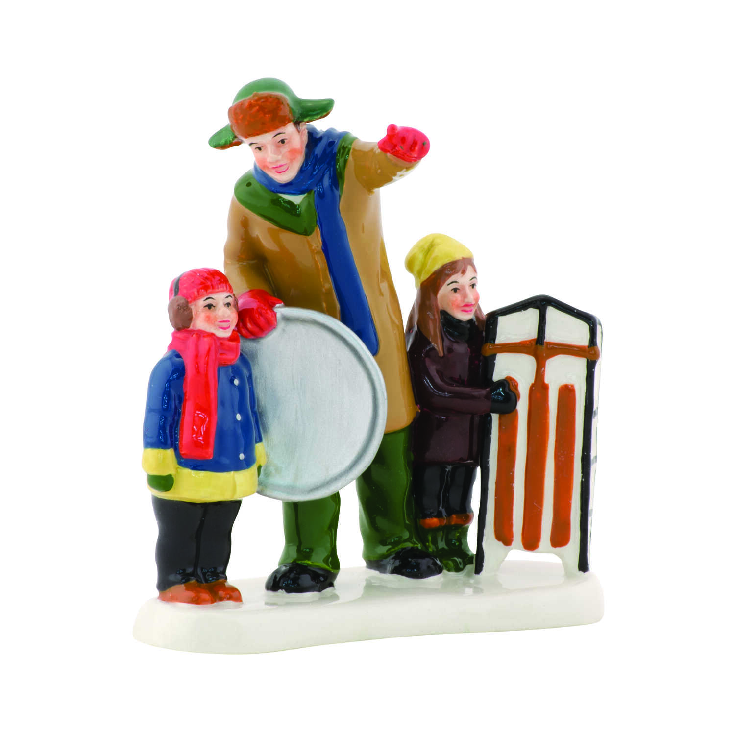 Department 56  Christmas Vacation Griswold Sled Scene  Village Accessory  Multicolored  Ceramic  1 e