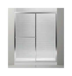 Sterling  Prevail  48.9 in. W x 70.3 in. H Framed  Silver  Shower Door