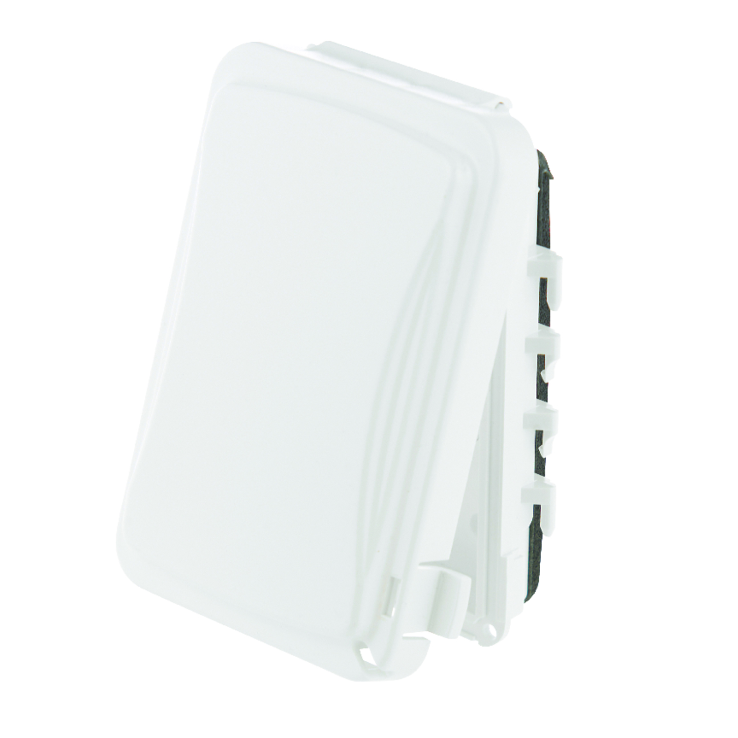 TayMac  Rectangle  Plastic  1 gang Receptacle Box Cover  For Protection from Weather