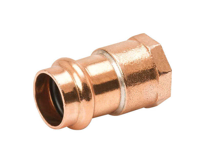 B & K  Streamline  1/2 in. Press   x 3/4 in. Dia. Press  Copper  Adapter