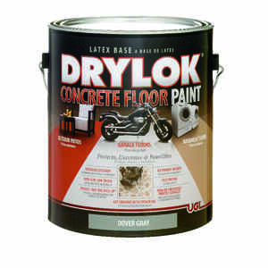 Drylok  Flat  Dover Gray  Latex  Concrete & Garage Floor Paint  1 gal.