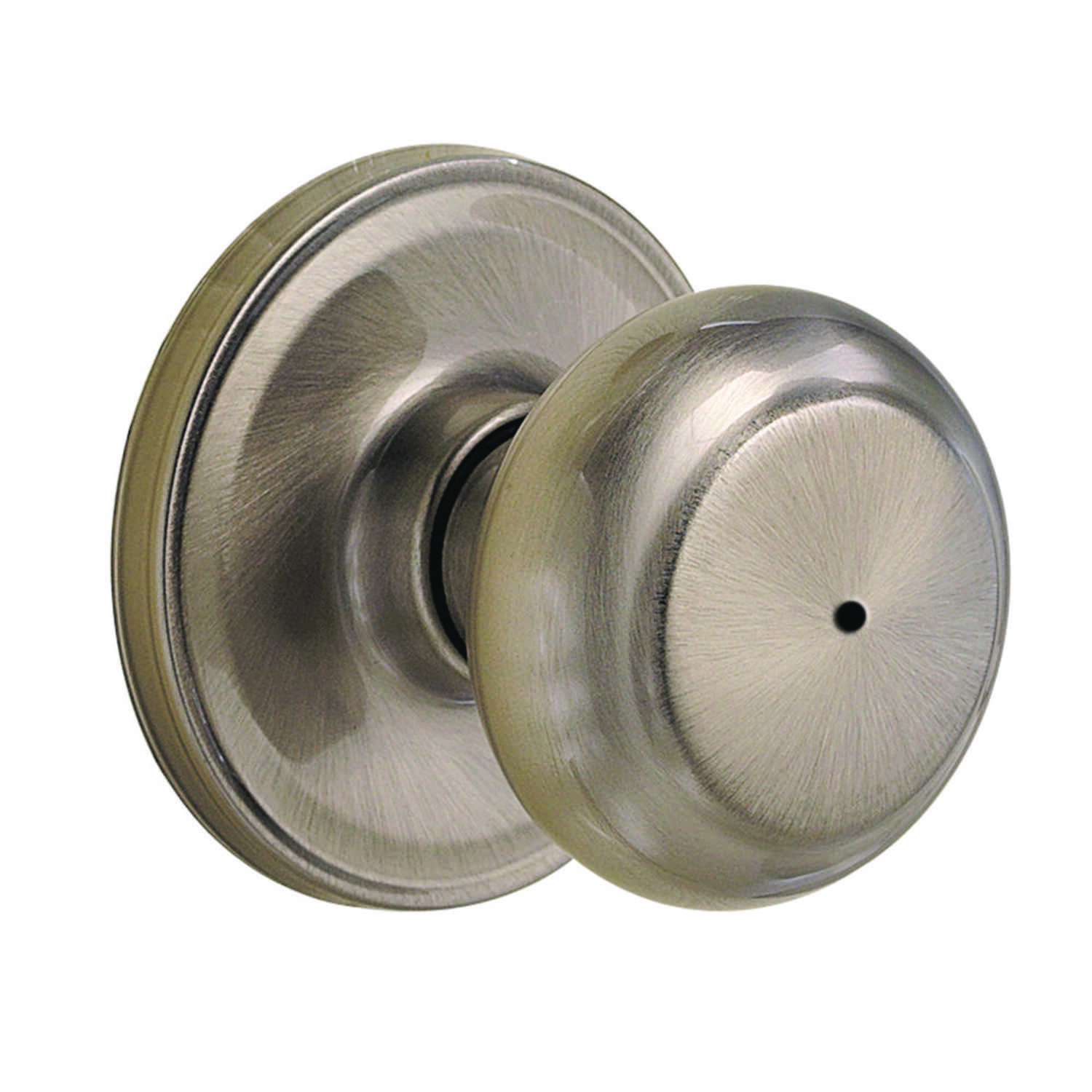 Weiser  Troy  Satin Nickel  Steel  Privacy Lockset  ANSI/BHMA Grade 2  1-3/4 in.