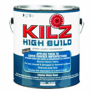 Kilz  High Build  White  Water-Based  For Ceilings and Walls Primer and Sealer  1 gal. Mildew-Resist